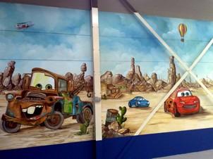 cars muur